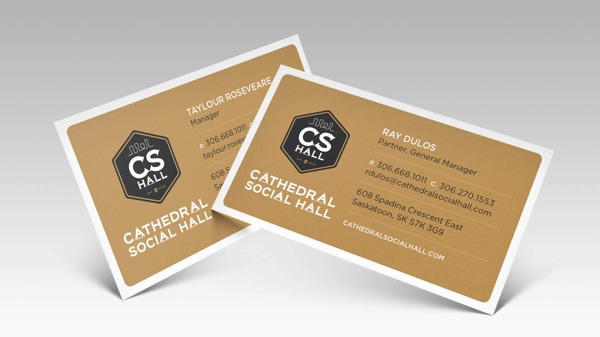 Cathedral Social Hall, Print, CS Hall Business Cards, Portfolio Image