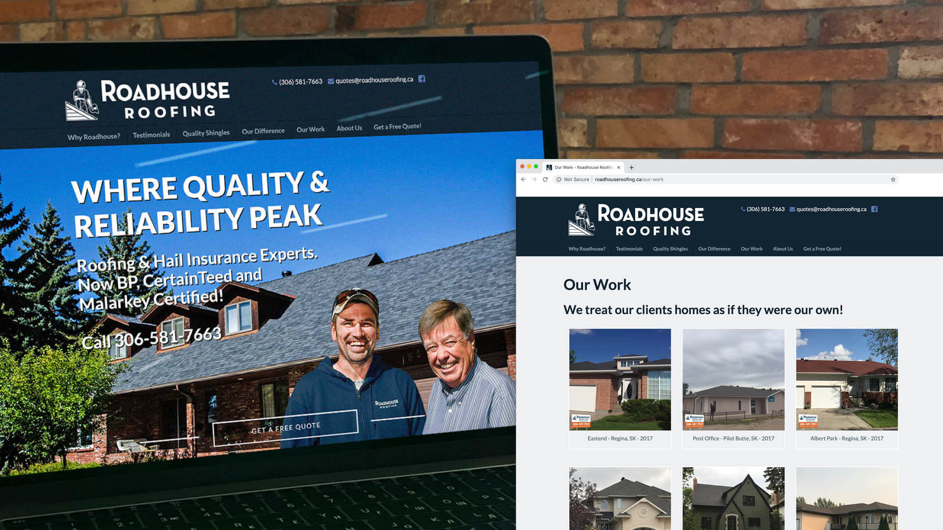 Roadhouse Roofing, Website, Roadhouse Roofing Website, Portfolio Image,