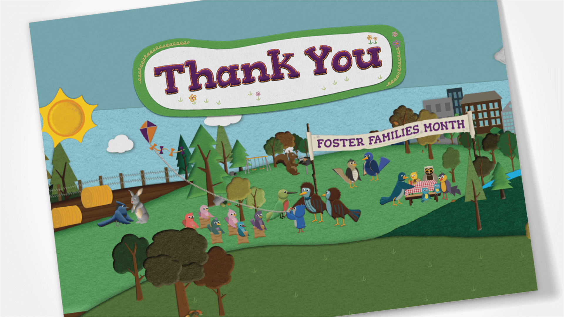 Saskatchewan Foster Families Association, Design, Foster Families Month Thank You Card, Portfolio Image