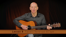 The Ray Bell FingerStyle Guitar training course includes 10 full lessons, with supporting practice patterns at various tempos for each. This video is the practice pattern 'reversed' at 60 bpm for Lesson 9.
